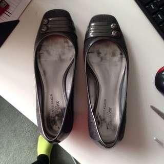 Ann Klein Grey Flats Size