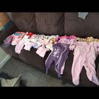 Bulk Of Baby Girl's Clothes