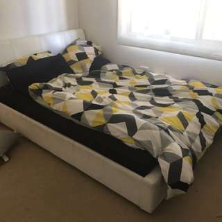 White Floor Bed Frame