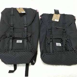 Restock: Herschel Black Polka Dots Little America Backpack