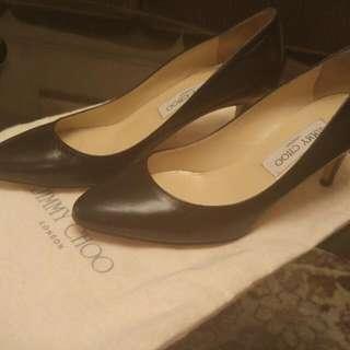 Jimmy Choo 8.5/38.5 Vega Kid Leather Black heels