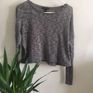 Cropped Knit Sweater (forever 21, Size S)