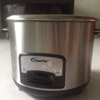 (PowerPac) Rice Cooker 1.8l Stainless Steel