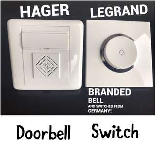 Doorbell/ Door Bell/ Bto Doorbell/ Electric Doorbell/ Bell Switches/ Legrand/ Electrician
