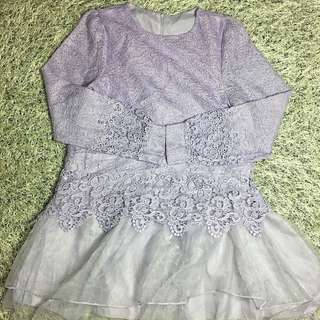 REPRICE ‼️Purple Lace Dress
