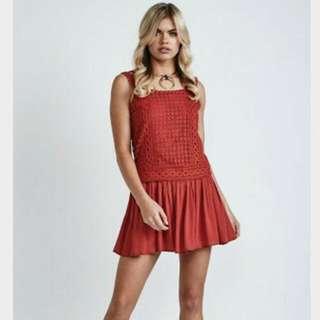 Morrisday Boho Red Dress New World Tags