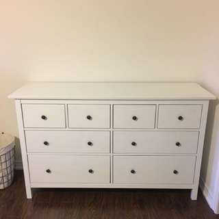 Hemnes 8 Drawer White Stain Dresser