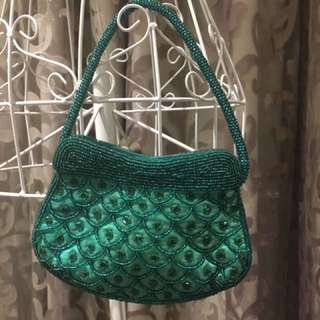 Mini Green Sequin Bag