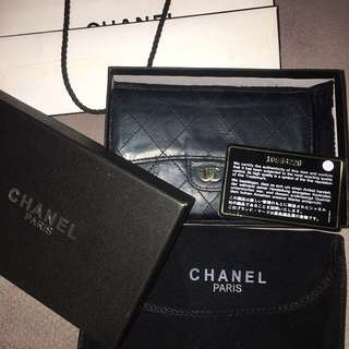AUTHENTIC Chanel Classic Lambskin Flap Wallet