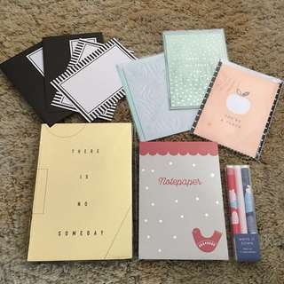 Massive Kikki K Bundle ! Journal Notepad Own Set Card Set Greeting Cards RRP OVER $49.95