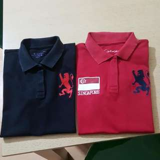 Free Sf.Bundle Giordano Poloshirt Black and Red