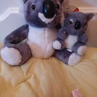 澳洲 樹熊 母子公仔