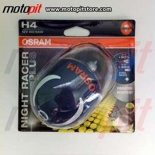 Osram Night Racer Plus NRP H4 60/55W 90EBIH TERANG dari standar