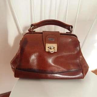 Satchi Club Vintage Genuine Leather Satchel Doctors Bag