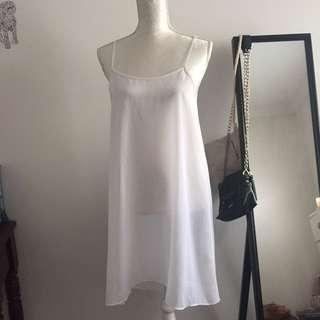CUE white dress
