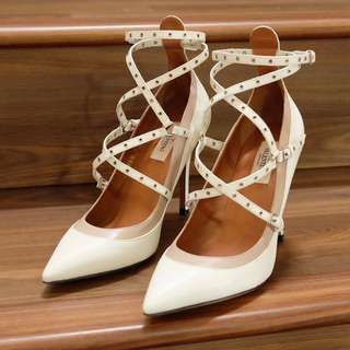 Valentino Love Latch Heels White Calf