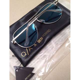 QUAY X DESI SILVER HIGH KEY SUNGLASSES BRAND NEW & AUTHENTIC