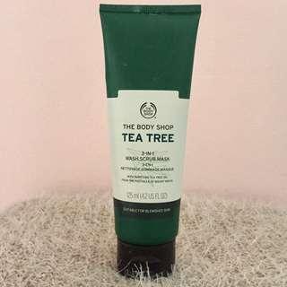 The Body Shop Tea Tree 3 In 1 Wash-Scrub-Mask