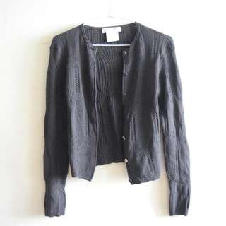 CHRISTIAN DIOR Knit Grey Cardigan