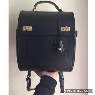 (PRICE REDUCED!) Zara Black Pleather Backpack