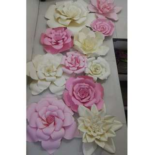 Paper Flowers for Backdrop/Event Designs