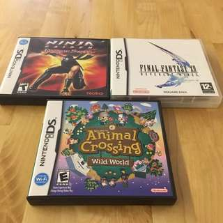 Used DS Games (ANIMAL CROSSING NO LONGER RESERVED)