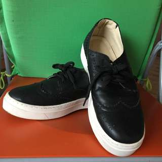 Black Sneakers With White Base
