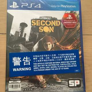 PS4 game - inFAMOUS SECOND SON