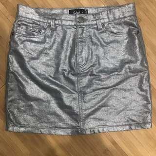 Sportsgirl Metallic Silver Skirt