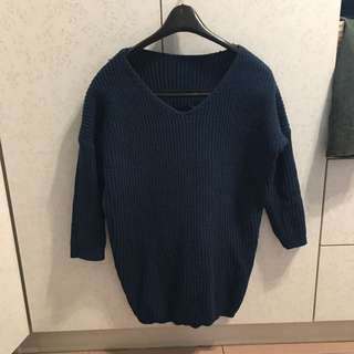 寶藍色 深藍 毛衣