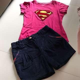 Supergirl Shirt And Pants 7-8 Years