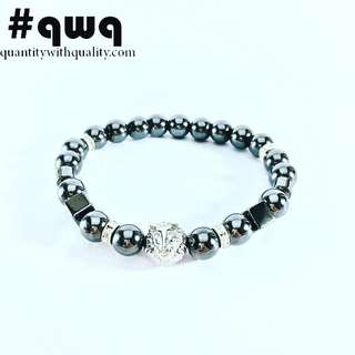 gelang cowok LION MACAN TIGER singa with all hematite stone STYLE BATU