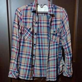 日 Lowrys Farm 條紋 襯衫 外套