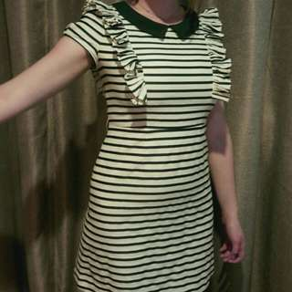 Frilly Striped Sailor Dress