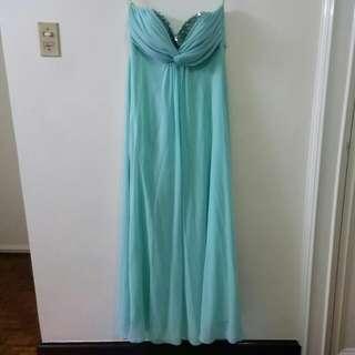 Mint Green Tube Formal Dress