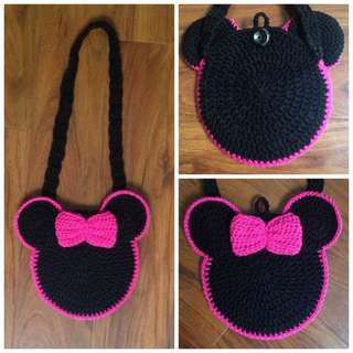 crochet mickey mouse sling bag