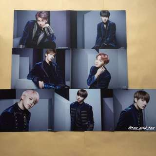[LIMITED] BTS Official Japan Blood, Sweat & Tears Shibuya Limited Special Flyers