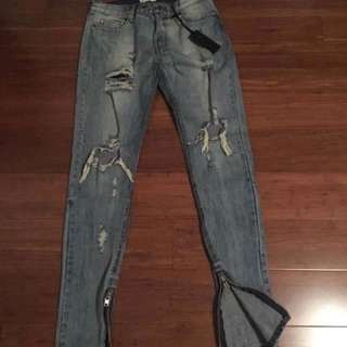Distressed Ansa Jeans