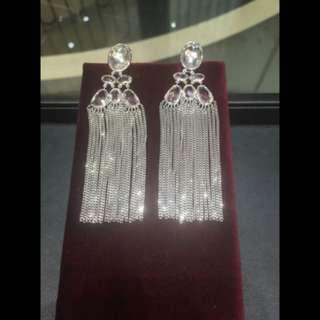 Gucci Fringe Sterling Silver Drop Earrings