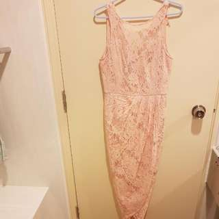 Forever New Pink Lace Dress Size 8