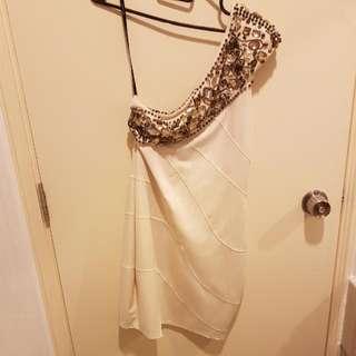 Bebe Toga Embellished Dress Size S (Fits 6 - 8)