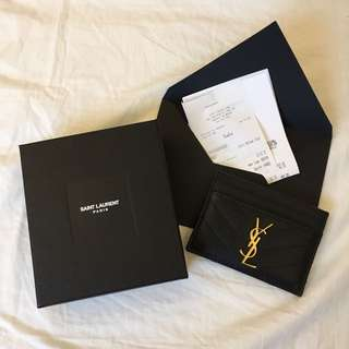 Authentic YSL Card Case