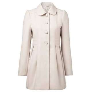 $100 Forever New Peter Pan Collar Coat- Size 6