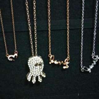 章魚水鑽長鍊 項鏈 愛心 Love #內有更多飾品特價#