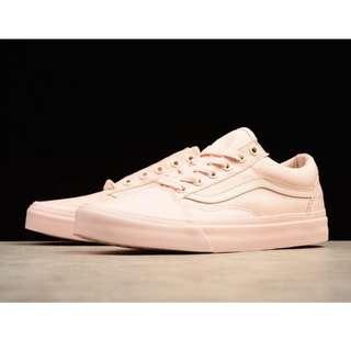 ded5f6efac Mono Canvas Peach Blush Vans Old Skool Lows