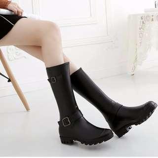 RS0006#新款防滑高筒雨靴#騎士雨鞋#長筒#水鞋#水靴