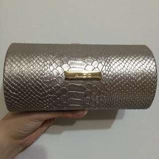 aldo金色蛇紋墨鏡盒/眼鏡盒