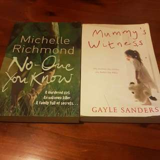 2 Books (No-one You Know & Mummy's Witness