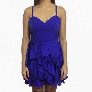 F21 Chiffon Ruffle Dress