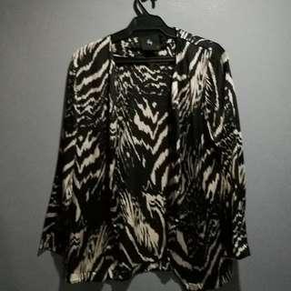 zebra print silk cover up